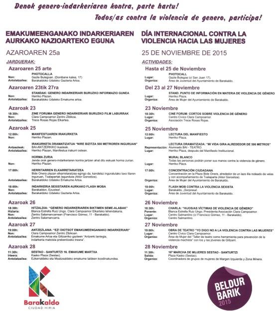 Actividades en Bakaraldo por el Día Internacional contra la Violencia hacia las Mujeres